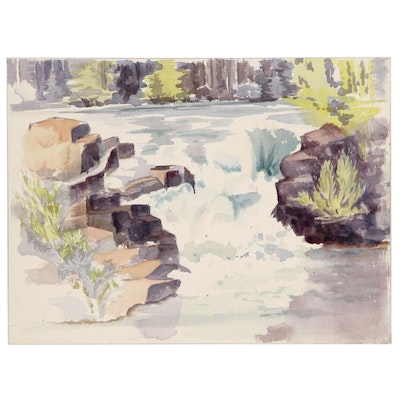 Elizabeth Chaffee Levasheff Landscape Watercolor Painting