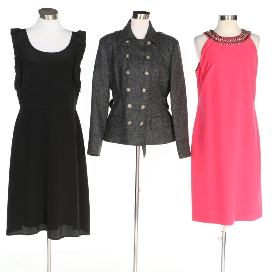 J. Peterman Double-Breasted Jacket and Occasion Dresses