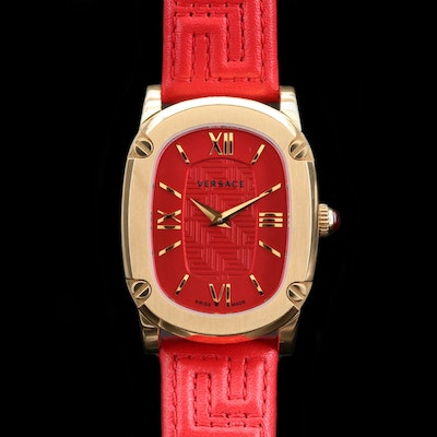 Versace Couture Gold Tone Quartz Wristwatch