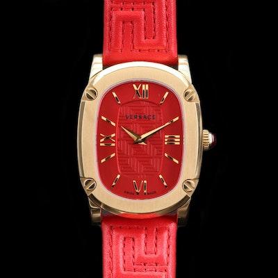 Versace Couture Gold Tone Quartz Wristwatch