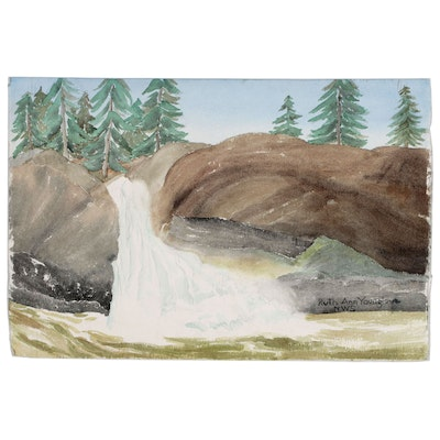 Ruth Ann Younglove Landscape Watercolor Painting