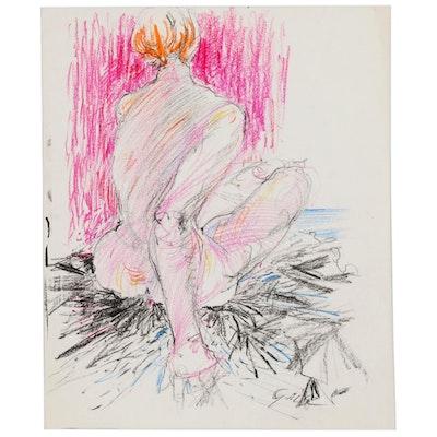 Hendrik Grise Oil Pastel Nude Figure Drawing