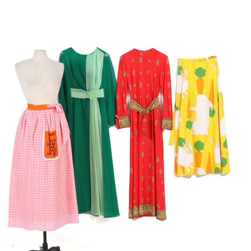 Dresses Featuring Jamison Boutique with Conversational Wrap Skirts, Vintage
