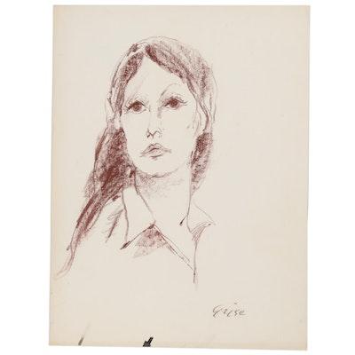 Hendrik Grise Pastel Portrait Drawing