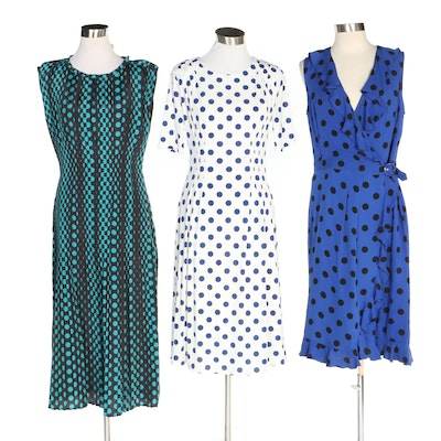 J. Peterman Polka Dot Dresses Including Tate & Lucille Dress