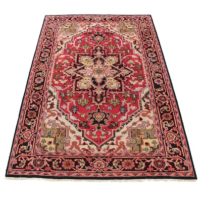 5'11 x 9'3 Hand-Knotted Indo-Persian Heriz Serapi Rug, 2010s