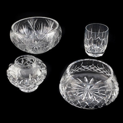 "Waterford Crystal ""Lismore"" Bowl, ""Westhampton"" Cup and Other Crystal Serveware"