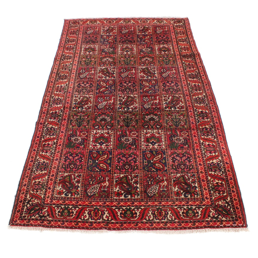 5'8 x 10'3 Hand-Knotted Persian Bakhtiari Pictorial Rug, 1970s