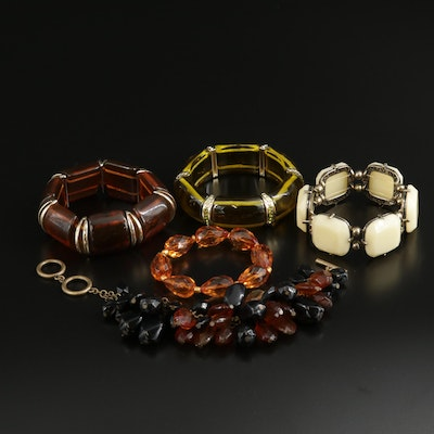 Bracelet Selection Including Resin and Plastic