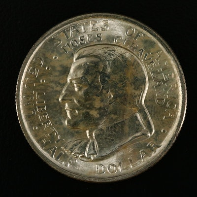 1936 Cleveland Centennial/Great Lakes Commemorative Silver Half Dollar