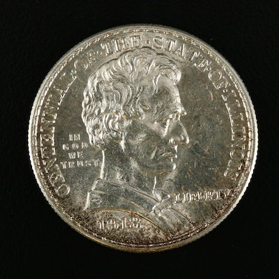 1918 Lincoln Commemorative Silver Half Dollar