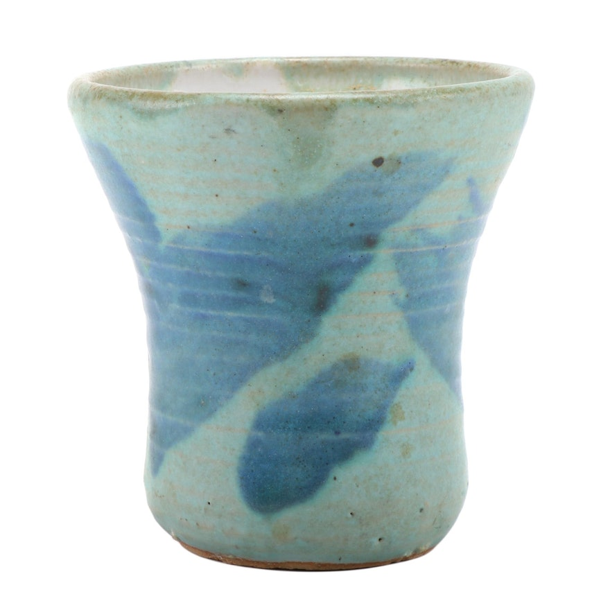 J.T. Abernathy Glazed Stoneware Studio Pottery Vase, Mid to Late 20th Century