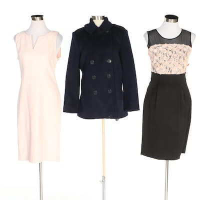 J. Peterman and Sinéquanone Sleeveless Dresses and Double-Breasted Peacoat