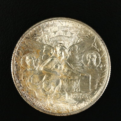 1934 Texas Independence Centennial Commemorative Silver Half Dollar