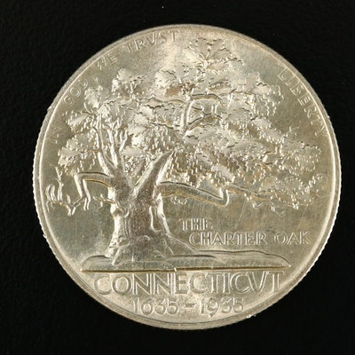 1935 Connecticut Tercentenary Commemorative Silver Half Dollar