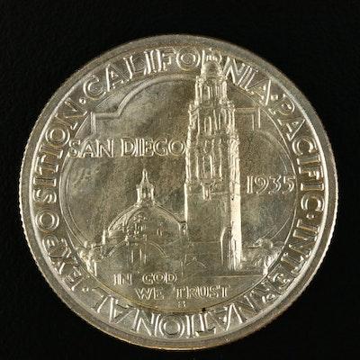 1935-S San Diego Commemorative Silver Half Dollar