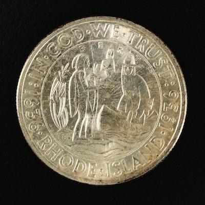 1935-S Rhode Island Commemorative Silver Half Dollar