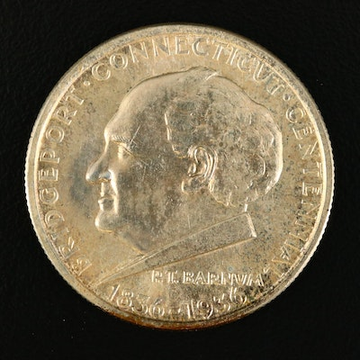 1936 Bridgeport, Connecticut Centennial Commemorative Silver Half Dollar