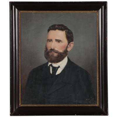 Jolan Szilagyi Portrait Oil Painting of Gentleman