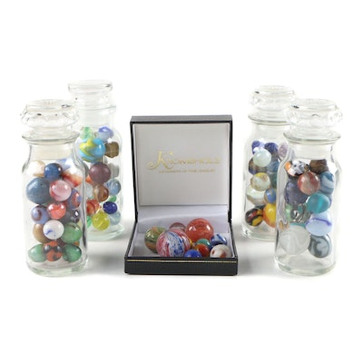 Shooter, Swirl, Metallic, Opaque, and Translucent Pattern Glass Marbles