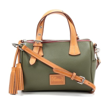 Dooney & Bourke Pebbled Leather Top Handle Convertible Bag with Tassels