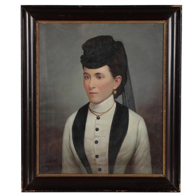 Jolan Szilagyi Portrait Oil Painting of Lady