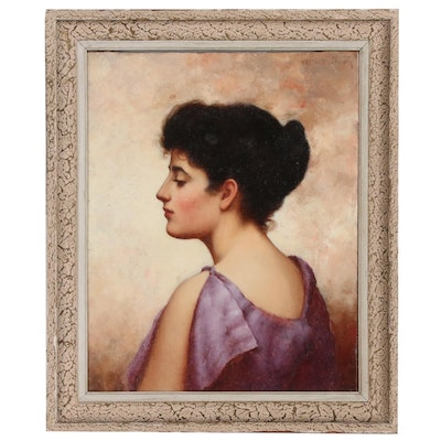 Walter Blackman Portrait Oil Painting of Young Woman