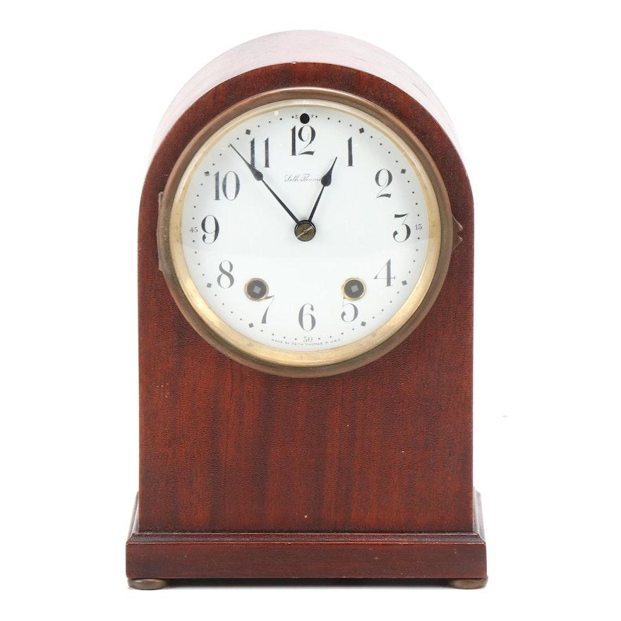 Seth Thomas Rounded Mahogany Beehive Mantel Clock