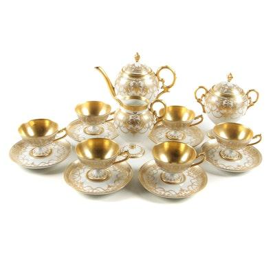 Helena Wolfsohn Gilded Porcelain Tea Service, Late 19th Century