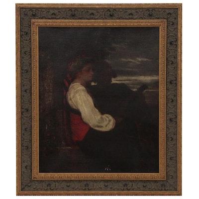 Frank Howland Portrait Oil Painting, 1867