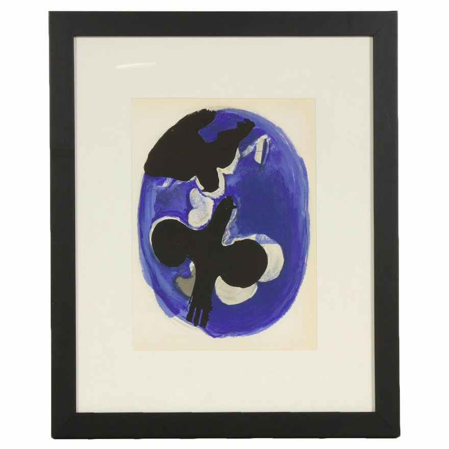 Georges Braque Lithograph for Verve No. VIII, 1955
