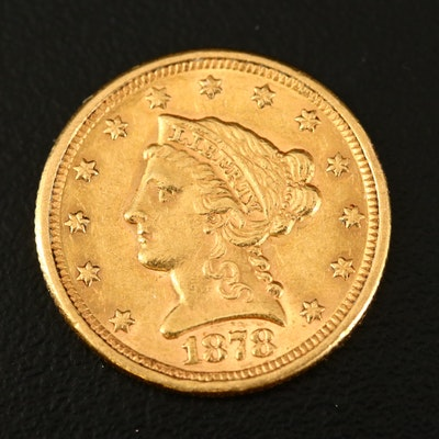 1878 Liberty Head $2 1/2 Gold Coin
