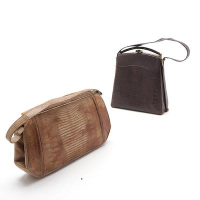 Lizard Skin Handbags, 1960s Vintage