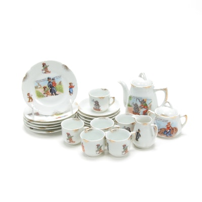 German Porcelain Children's Tea Service, 20th Century