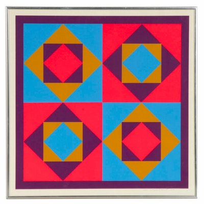 James Ropiequet Schmidt Op Art Lithograph