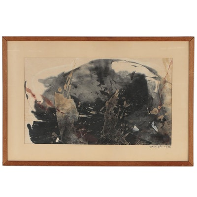 Taisuke Hamada Abstract Watercolor Painting, 1963