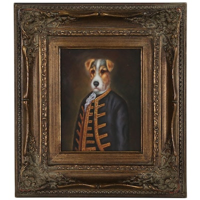 Anthropomorphic Dog Oil Painting