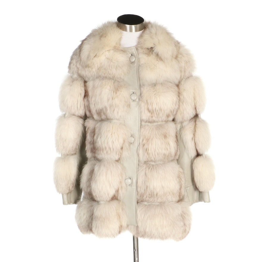 Fox Fur and Leather Button Front Coat from Stanley Rich Custom Furrier