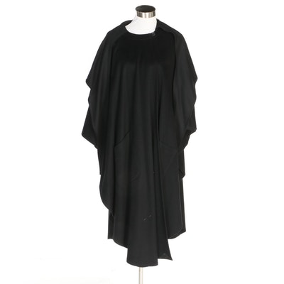 Hourihan by Jimmy Hourihan of Dublin Black Wool and Cashmere Blend Cape, Vintage