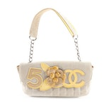 Chanel No. 5 Camellia Canvas and Patent Leather Front Flap Bag
