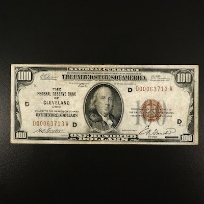 Series of 1929 $100 National Currency Note