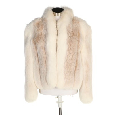 Fox Fur Jacket with Tuxedo Collar