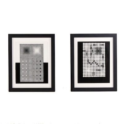 After Victor Vasarely Op-Art Serigraphs