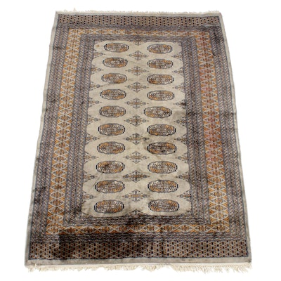4'0 x 6'0 Hand-Knotted Persian Turkoman Rug, Signed
