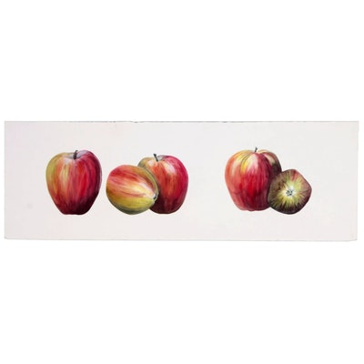 Watercolor Painting of Apples, 2010