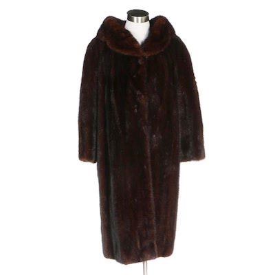 Mahogany Mink Fur Coat from Jordan Marsh of Boston, Vintage