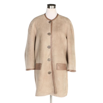 Donna Karan Signature Lambskin Shearling Coat