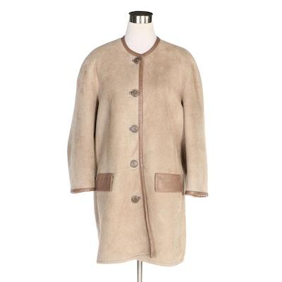 Donna Karan Signature Lambskin Shearling Coat