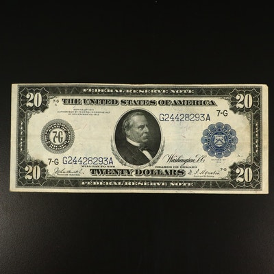 Series of 1914 Blue Seal $20 Federal Reserve Note