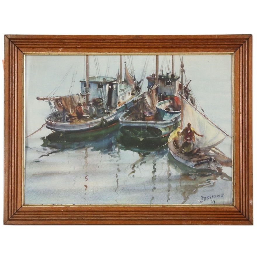 Nautical Offset Lithograph after James Sessions